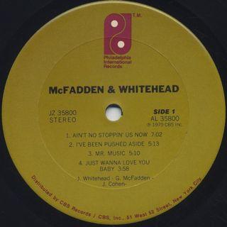 McFadden & Whitehead / S.T. label