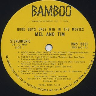 Mel And Tim / Good Guys Only Win In The Movies label