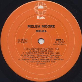 Melba Moore / Melba label