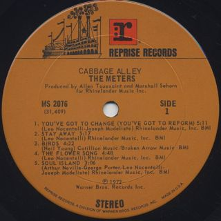 Meters / Cabbage Alley label