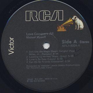 Michael Wycoff / Love Conquers All label