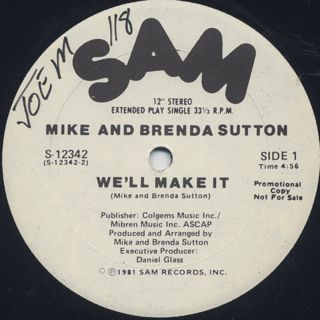Mike And Brenda Sutton / We'll Make It (12