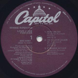 Minnie Riperton / Love Live Forever label
