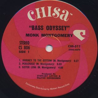 Monk Montgomery / Bass Odyssey label