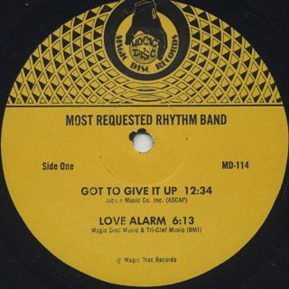 Most Requested Rhythm Band / Got To Give It Up label