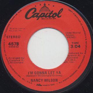 Nancy Wilson / Light c/w I'm Gonna Let Ya