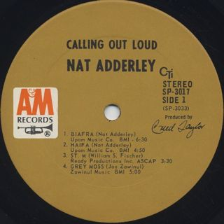 Nat Adderley / Calling Out Loud label