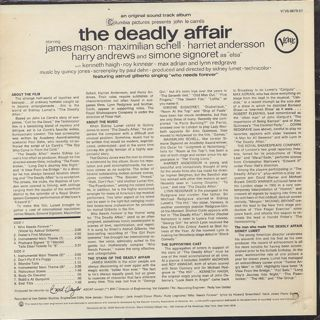 O.S.T.(Quincy Jones) / The Deadly Affair back