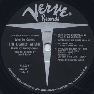 O.S.T.(Quincy Jones) / The Deadly Affair label