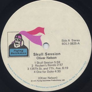 Oliver Nelson / Skull Session label