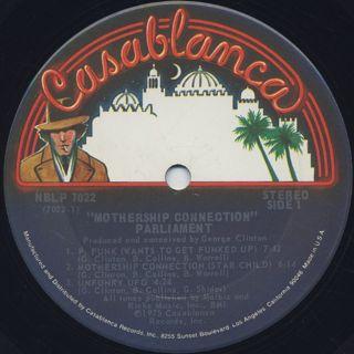 Parliament / Mothership Connection label