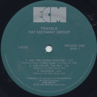 Pat Metheny Group / Travels label