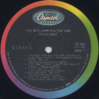 Patti Drew / I've Been Here All The Time label