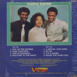 Positive Express / Changin' Times back