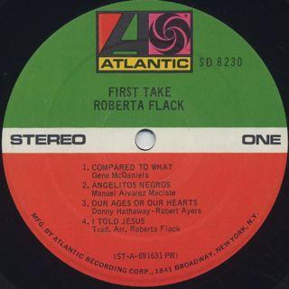 Roberta Flack / First Take label