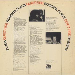 Roberta Flack / Quiet Fire back