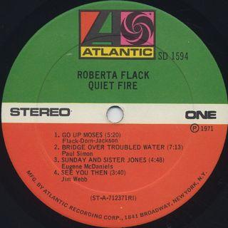 Roberta Flack / Quiet Fire label