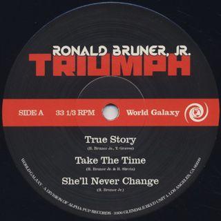 Ronald Bruner, Jr. / Triumph label
