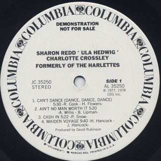 Sharon Redd, Ula Hedwig, Charlotte Crossley / Formerly Of The Harlettes label