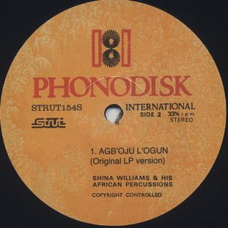 Shina Williams & His African Percussionists / Agb'oju L'ogun label