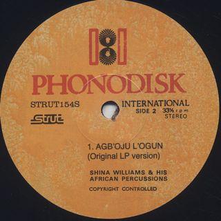 Shina Williams & His African Percussionists / Agb'oju L'ogun label