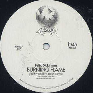 Shit Robot & Felix Dickinson / Lose Control c/w Burning Flame Justin Van Der Volgen Remixes back