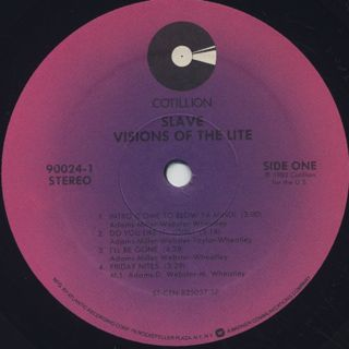 Slave / Visions Of The Lite label