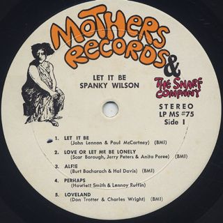 Spanky Wilson / Let It Be label