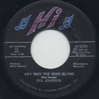 Syl Johnson / We Did It c/w Any Way The Wind Blows back
