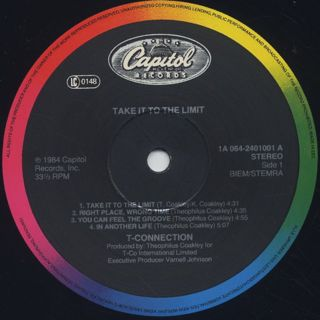 T-Connection / Take It To The Limit label