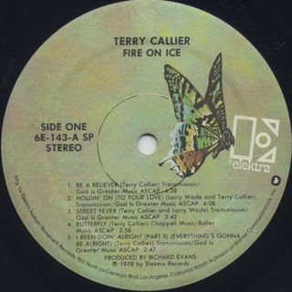 Terry Callier / Fire On Ice label