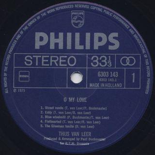 Thijs Van Leer / O My Love label