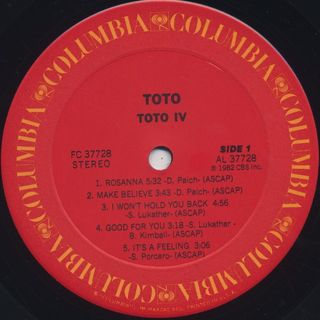Toto / Toto IV label