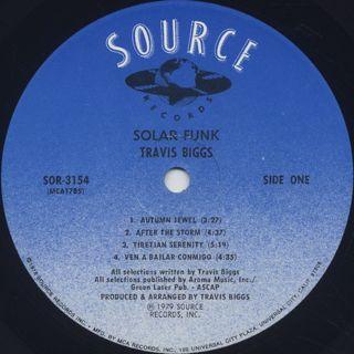 Travis Biggs / Solar Funk label