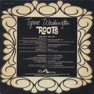 Tyrone Washington / Roots back