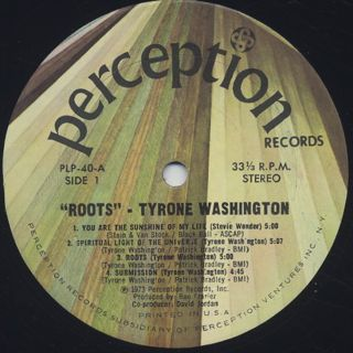 Tyrone Washington / Roots label