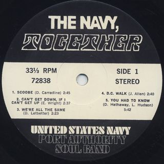 United States Navy Port Authority Soul Band / Together label