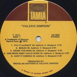 Valerie Simpson / S.T. label