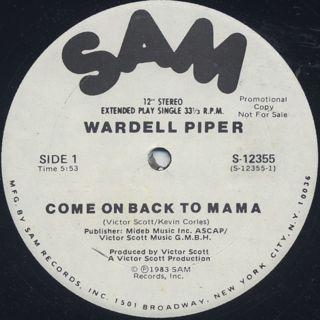Wardell Piper / Come On Back To Mama back