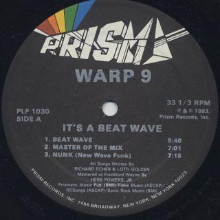 Warp 9 / It's A Beat Wave label