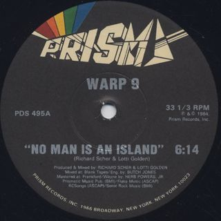 Warp 9 / No Man Is An Island back