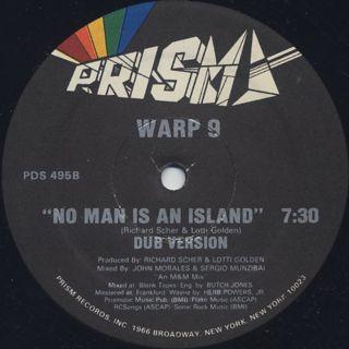 Warp 9 / No Man Is An Island label