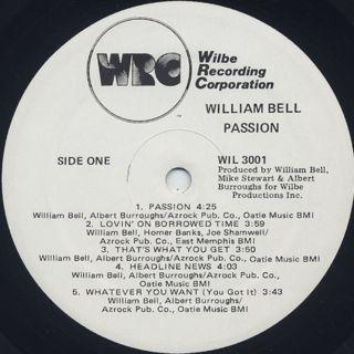 William Bell / Passion label