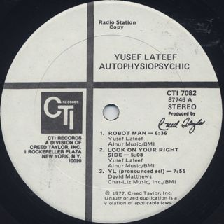 Yusef Lateef with Art Farmer / Autophysiopsychic label