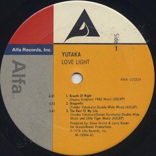 Yutaka / Love Light label