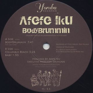Afefe Iku / Bodydrummin label