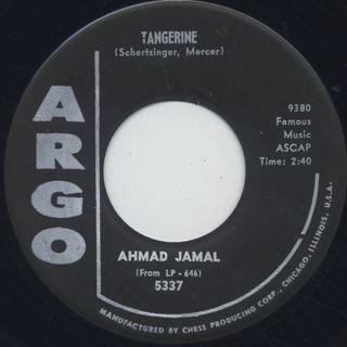Ahmad Jamal / Seleritus c/w Tangerine back