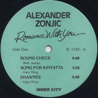 Alexander Zonjic / Romance With You label