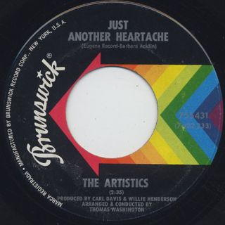 Artistics / Just Another Heartache c/w Ain't It Strange front