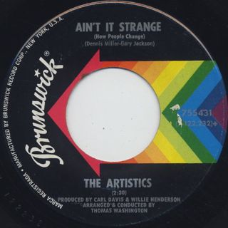 Artistics / Just Another Heartache c/w Ain't It Strange back